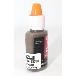 Пигмент краска Dark Ash Brown Темно Пепельно Коричневый 9646 Maser для татуажа