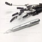 Ручка перманентная Biomaser Korea Silver для татуажа и микронидлинга