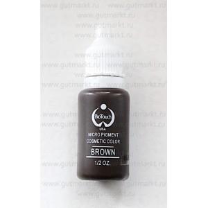 Пигмент для татуажа Brown Коричневый Biotouch кремовый