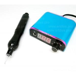 Ручка роторная для татуажа и тату Dragonhawk Micron и блок Power BMX