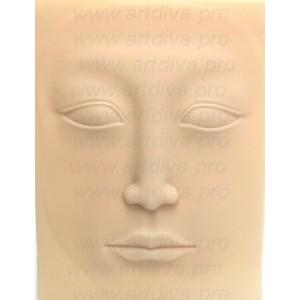 Коврик кожа для тренировки татуажа лицо 4D