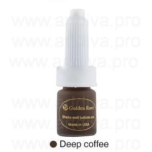 Пигмент для татуажа бровей Golden Rose 10 мл Deep Coffee