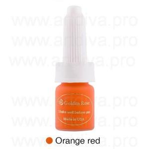 Краска корректор для теплоты губных пигментов Golden Rose Orange Red Оранжевый 10 мл