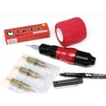 Машинка роторная H-star pen PRO red для татуажа и татуировок модульная