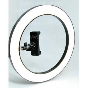 Лампа кольцевая светодиодная с креплением для стола