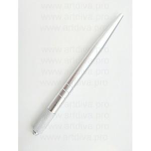 Манипула ручка для мануальной техники серебристая