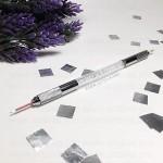 Ручка для микроблейдинга татуажа двойная прозрачная