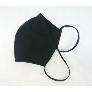 Многоразовая маска стрейч трикотаж Анатомическая черная L