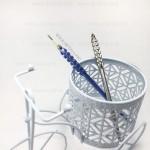 Манипула для микроблейдинга мануального татуажа Гофре синяя