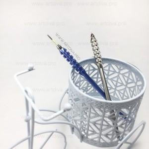 Ручка манипула для микроблейдинга Гофре платиновая