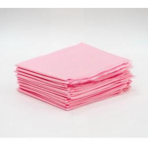 Простыни для кушетки одноразовая розовая
