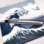 Машинка роторная Solong Pen серебристая для татуажа и тату модульная
